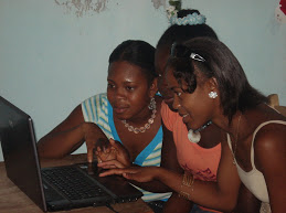 Group of highschool girls in the computer lab