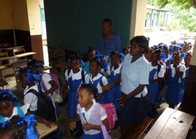 Ecole Immaculée Conception (Camp-Perrin). Première rentrée des classes avec le TNI (oct. 2011)